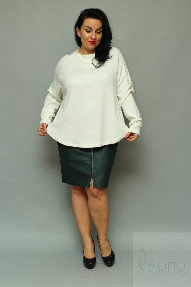 Sweter MALONE Size Plus Perły ecru