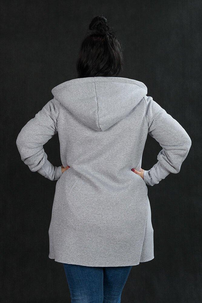 Szara Bluza LUMIA Casualowa Plus Size