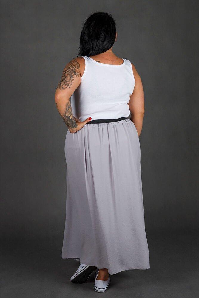 Szara Spódnica SUSANNA Maxi Plus Size