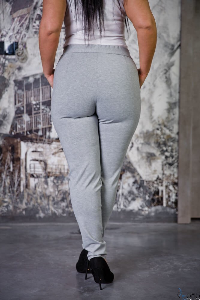 Szare Spodnie LOREGIO Plus Size