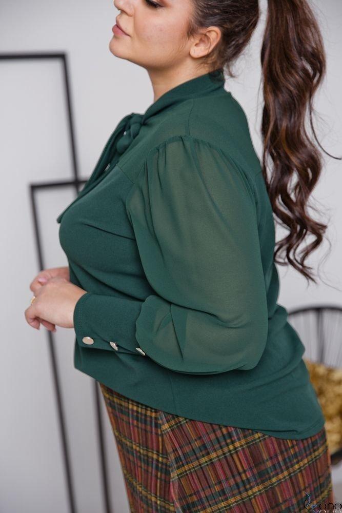 Zielona Bluzka BJONDA Plus Size