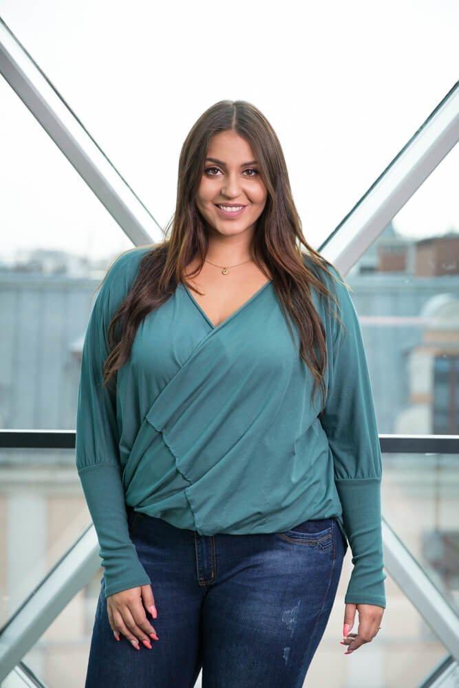 Zielona Bluzka SENTIA Plus Size
