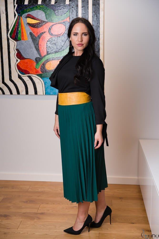 Zielona Spódnica CARAMELLA Plisowana Plus Size
