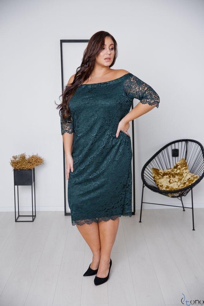 Zielona Sukienka ADELINA Plus Size