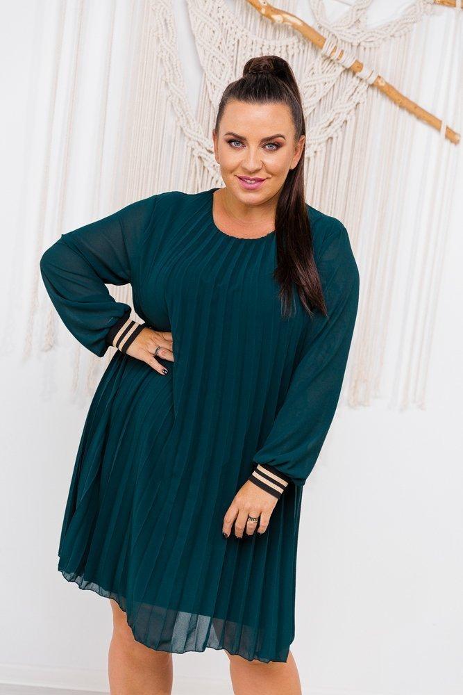 Zielona Sukienka AKITA Plus Size