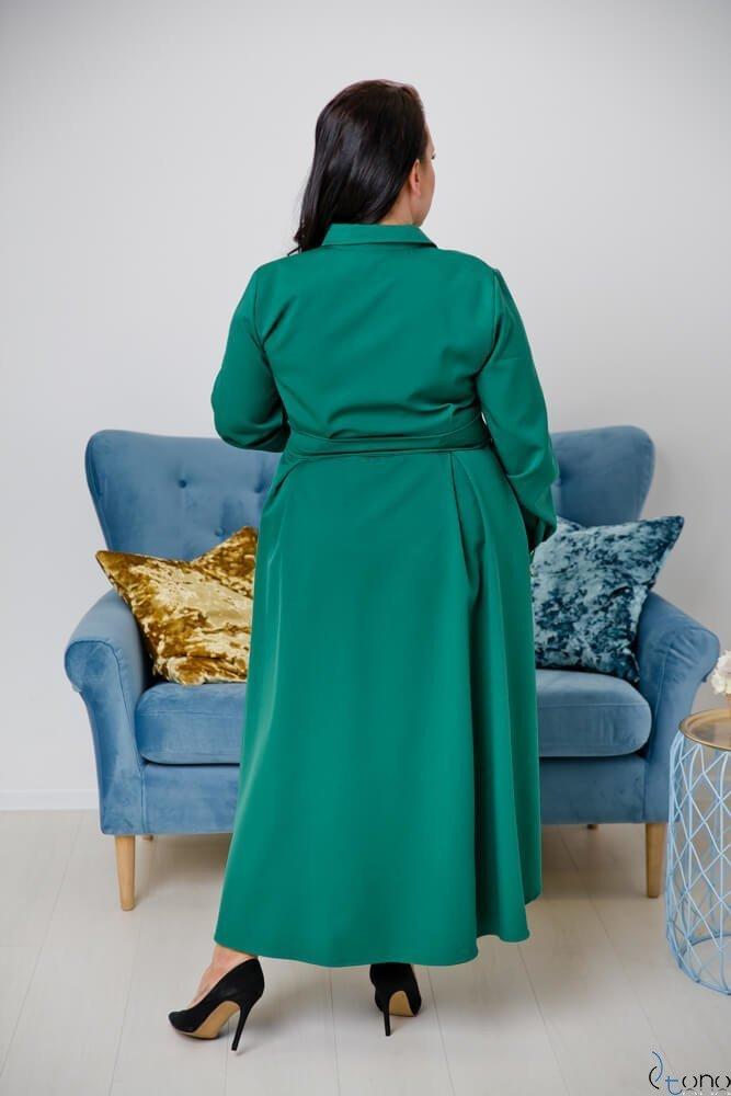 Zielona Sukienka CELINE Szmizjerka Plus Size