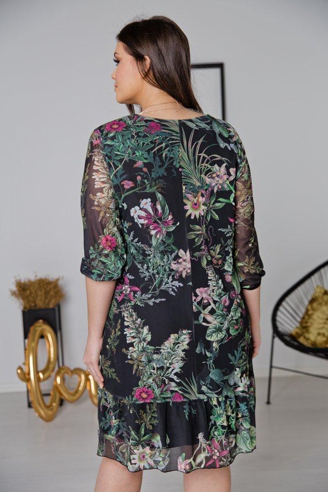 Zielona Sukienka FORETA Plus Size