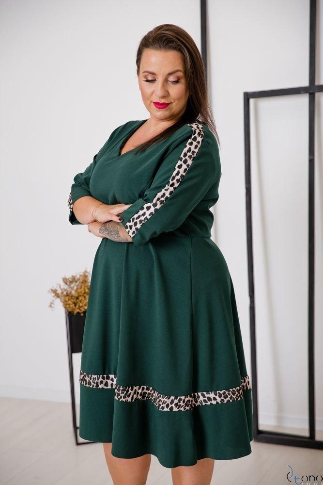Zielona Sukienka SINIORINA Plus Size
