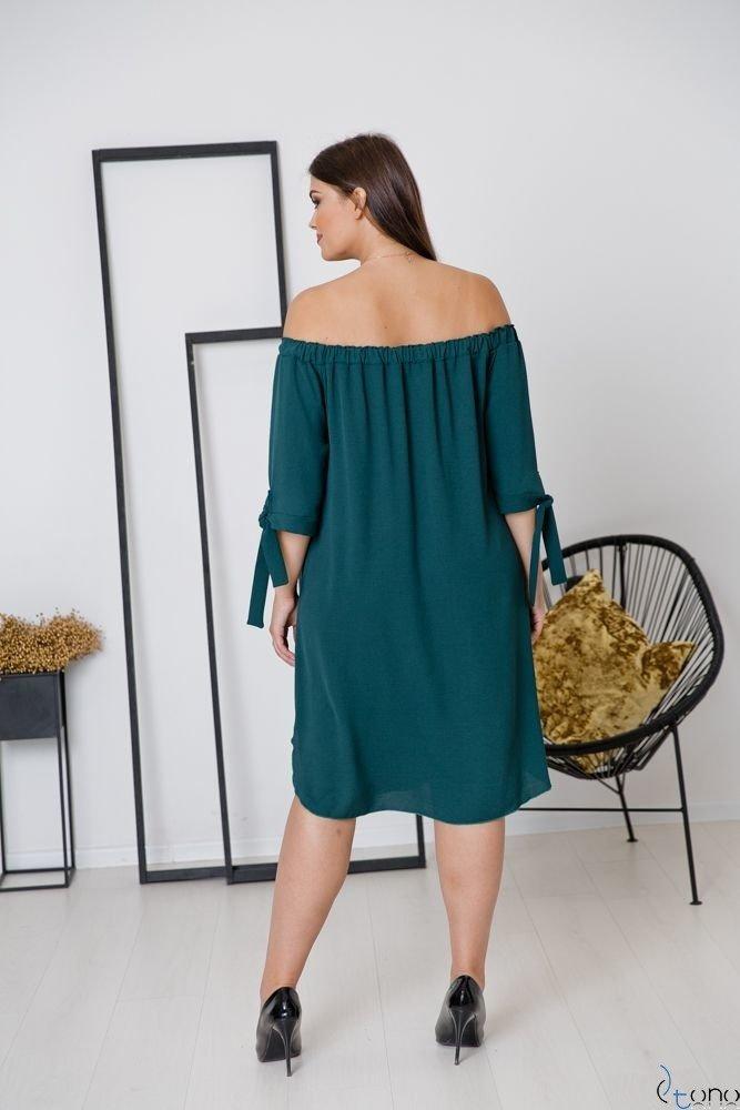 Zielona Sukienka VALENCIA Plus Size