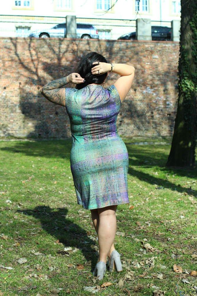 Zielona Sukienka VENGA Plus Size