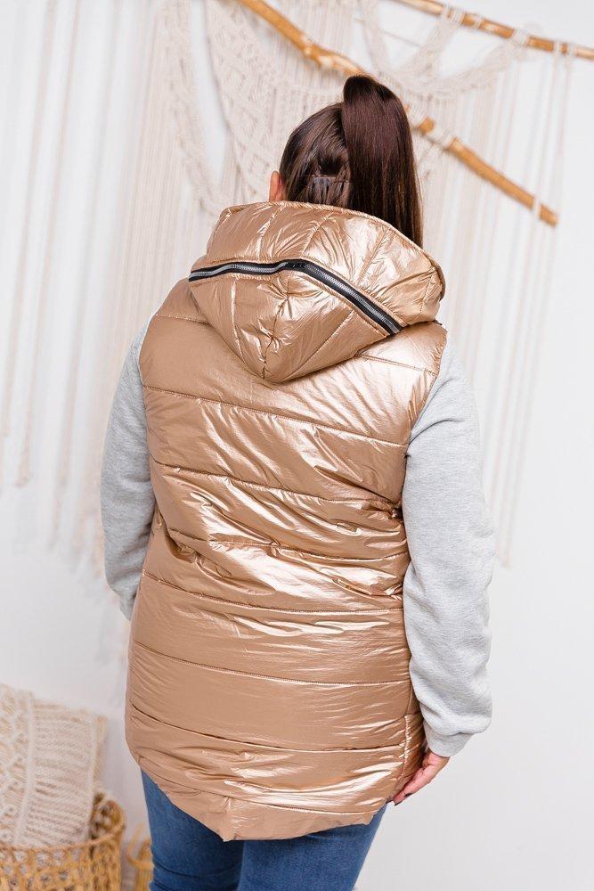 Złota Kurtka MORSENA Plus Size 42