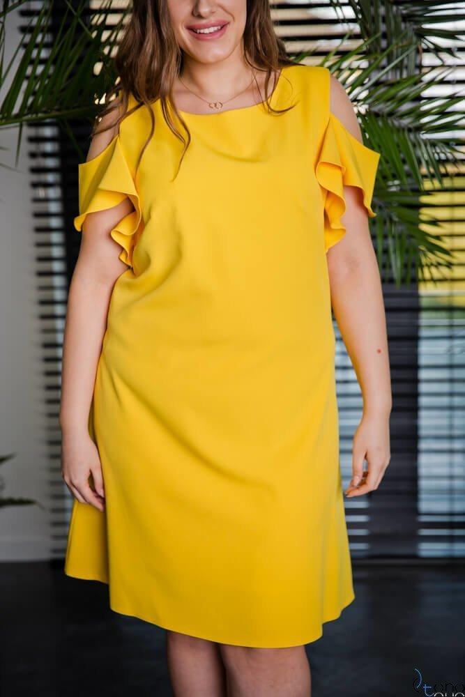 Zółta Sukienka BARBIE Plus Size