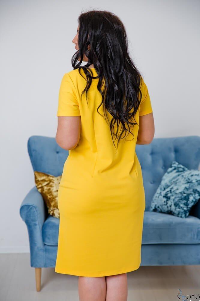 Żółta Sukienka MELIA Plus Size