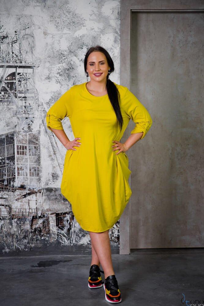 Żółta Sukienka SAYANA Plus Size